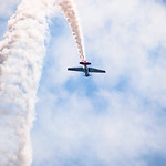 Inverted stunt plane at Chicago Air and Water Show