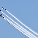 Stunt planes fly in formation at Chicago AIr and Water Show